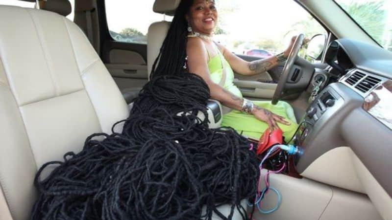 امرأة صاحبة اطول شعر فى العالم